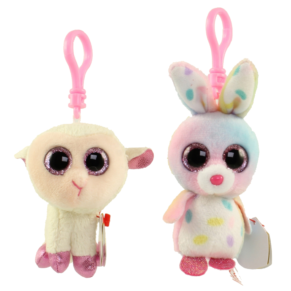 TY Beanie Boos - SET of 2 Easter 2016 Releases (Key Clips) (Twinkle 7685b66340c9