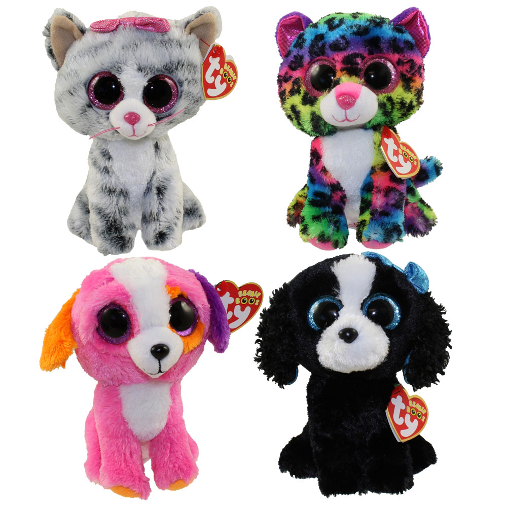 02dc284d313 TY Beanie Boos - SET of 4 Summer 2016 Releases (6 inch) (Dotty ...