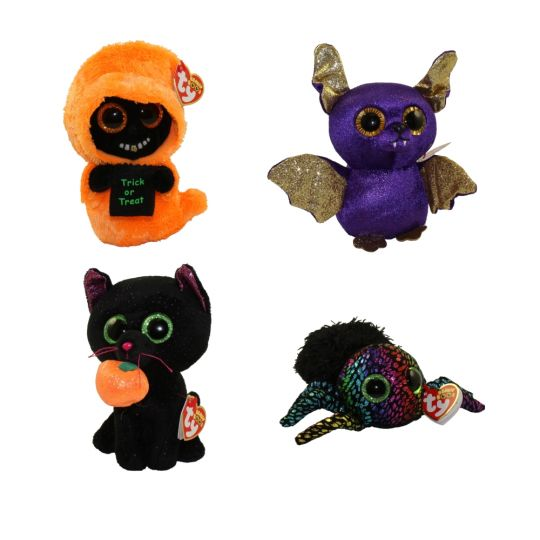 1dab8f3843a TY Beanie Boos - SET of 4 Halloween 2018 Releases (6 inch) (Count ...