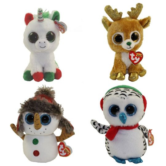 TY Beanie Boos - Set of 4 Christmas 2018 Releases (6 inch) (Glitzy ... 3854ead6ad5