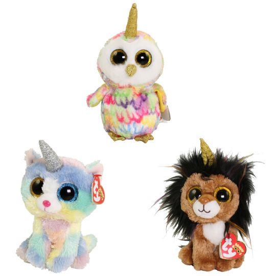 TY Beanie Boos - SET of 3 UNI Animals (6 inch) (Heather ece5070be57c