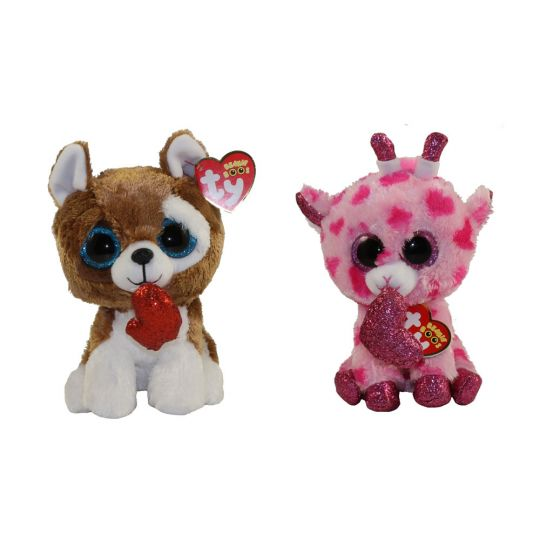 9a3a5f31547 TY Beanie Boos - SET of 2 Valentines 2019 Releases (6 inch) (Smootches    Sweetums)  BBToyStore.com - Toys
