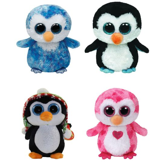 TY Beanie Boos - SET OF 4 PENGUINS (Ice Cube 561b65045f61
