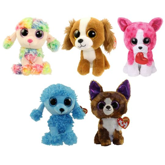 015c239c5a8 TY Beanie Boos - SET OF 5 DOGS (Rainbow