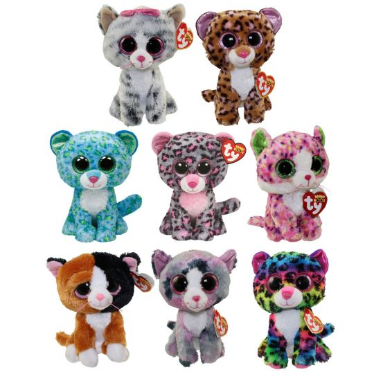 TY Beanie Boos - SET OF 8 CATS (Leona 1acdf0b22a68