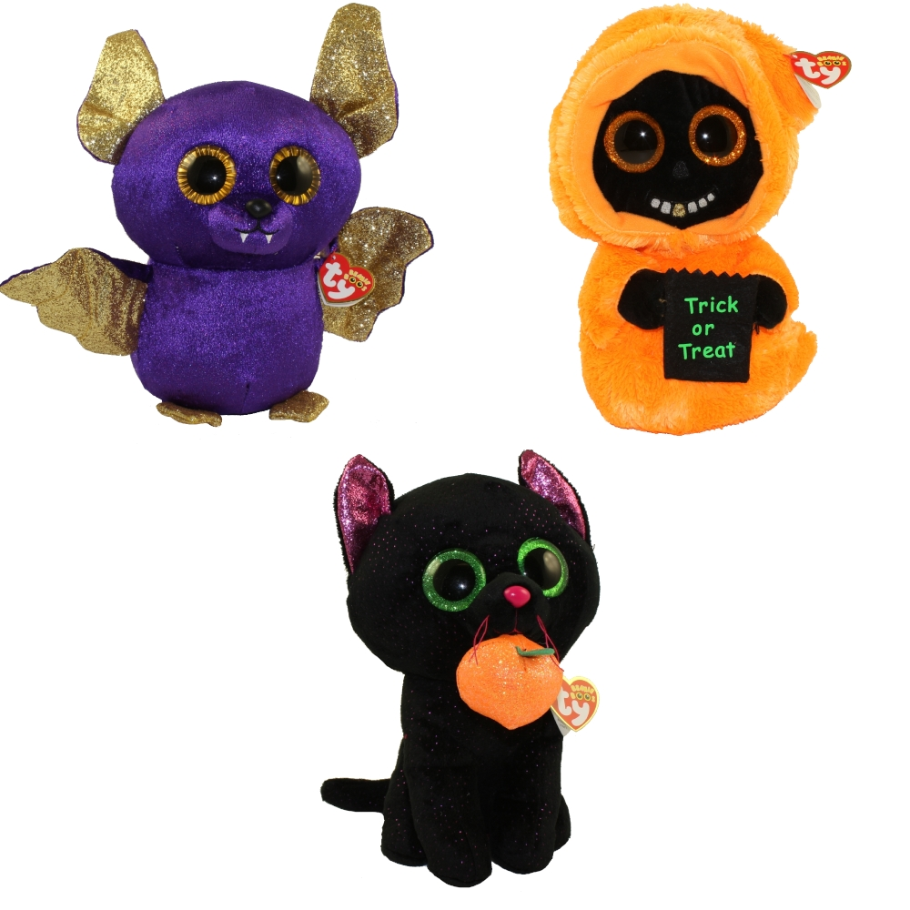 cf3c778d7a9 TY Beanie Boos - SET of 3 Halloween 2018 Releases (Medium - 9 inch) (Count
