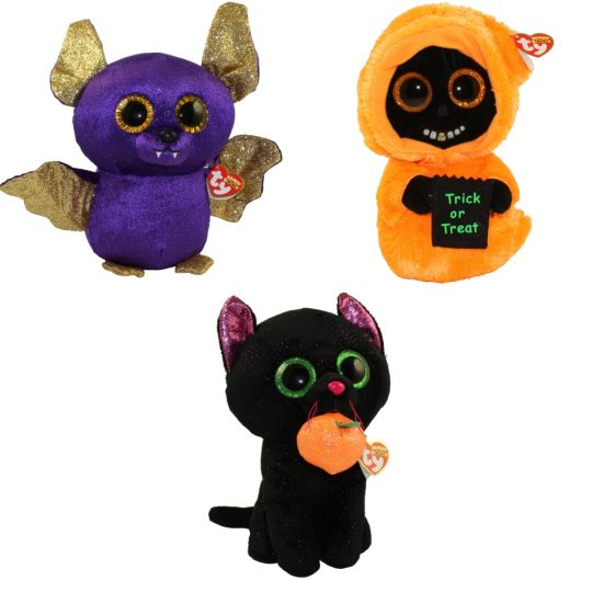 cb706ee9b91 TY Beanie Boos - SET of 3 Halloween 2018 Releases (Medium - 9 inch) (Count