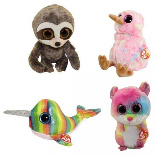 780a216b3d7 TY Beanie Boos - SET of 4 Fall 2018 Releases (Medium - 9 inch) (Dangler