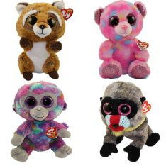 TY Beanie Boos - SPRING 2018 Releases SET of 4 (Medium Size)