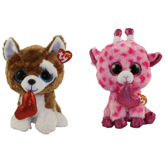 45151022a80 TY Beanie Boos - SET of 2 Valentines 2019 Releases (Medium - 9 inch)  (Smootches   Sweetums)  BBToyStore.com - Toys