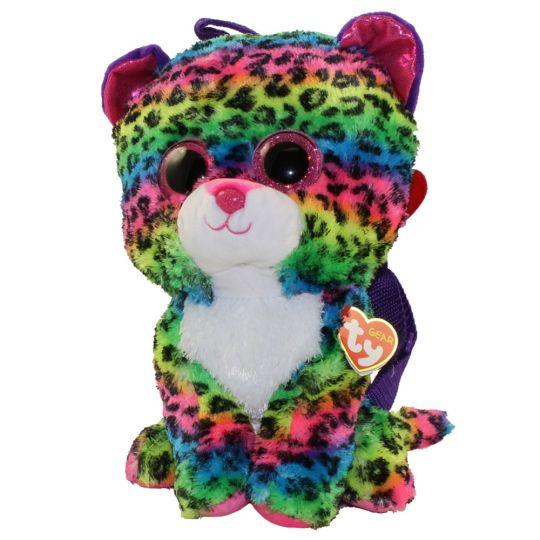 TY Gear Backpack - DOTTY the Rainbow Leopard (13 inch)  BBToyStore.com -  Toys dd28d6770ec