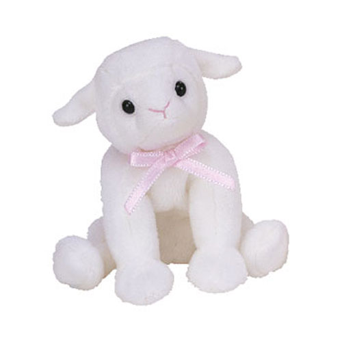 b66fd6e6756 TY Basket Beanie Baby - LULLABY the Lamb (4.5 inch)  BBToyStore.com - Toys