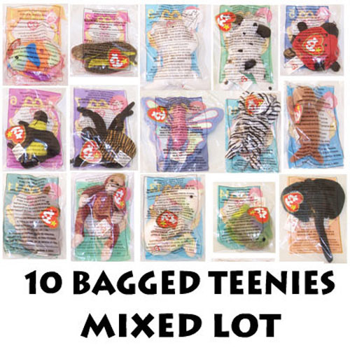 TY McDonald s Teenie Beanies - Mixed Lot of 10 Teenies (All Different -  Sealed in bags)  BBToyStore.com - Toys 9f814486d18