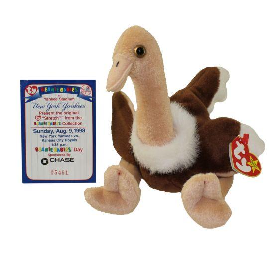 3b5a8bb924b TY Beanie Baby - STRETCH the Ostrich (w  Commemorative Event Card -  8 9 98)  BBToyStore.com - Toys