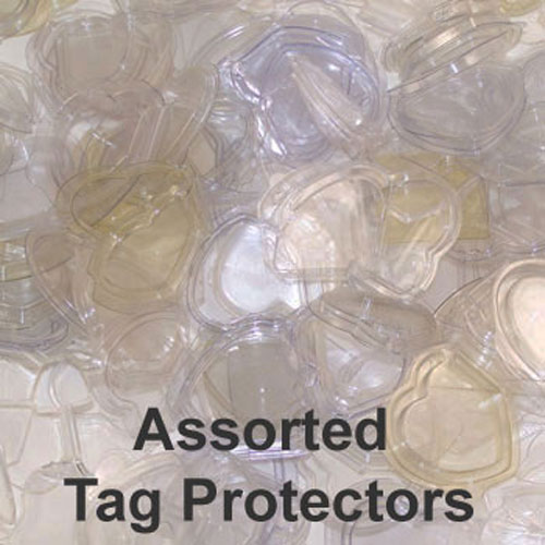 ty beanie baby tag protectors - 1000 count  assorted styles - used   bbtoystore com