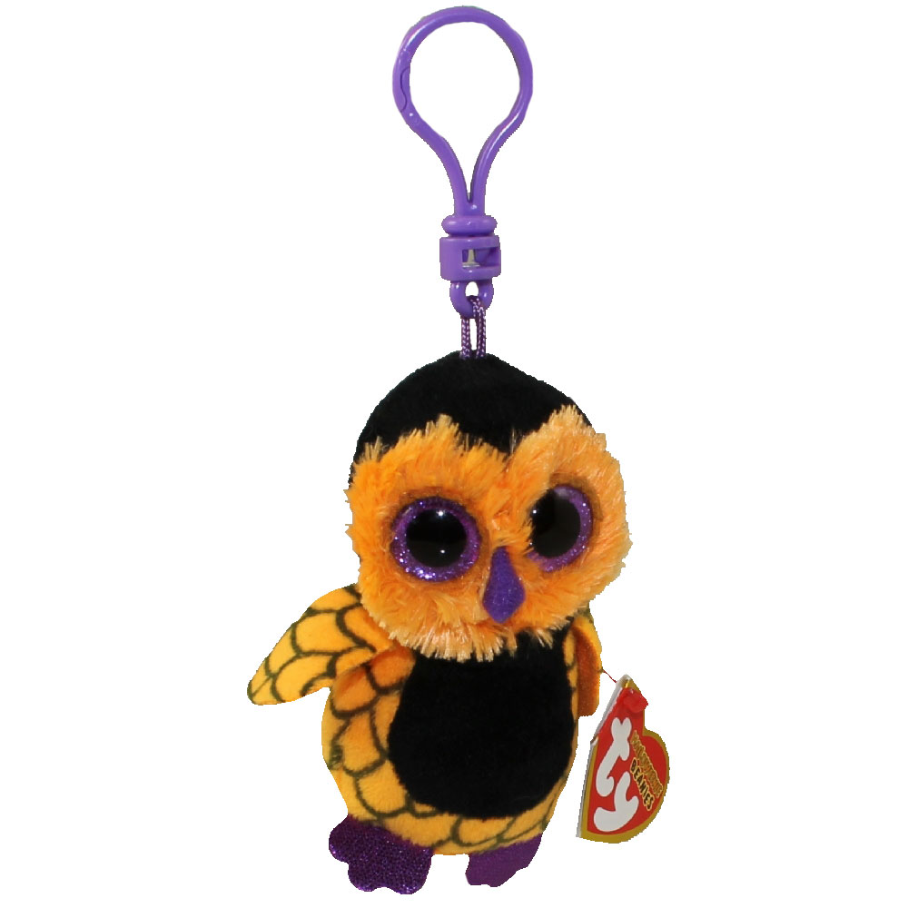 TY Halloweenie Beanie Baby - SCREECH the Owl (key clip - 3.5 inch) 87639b1ac94d