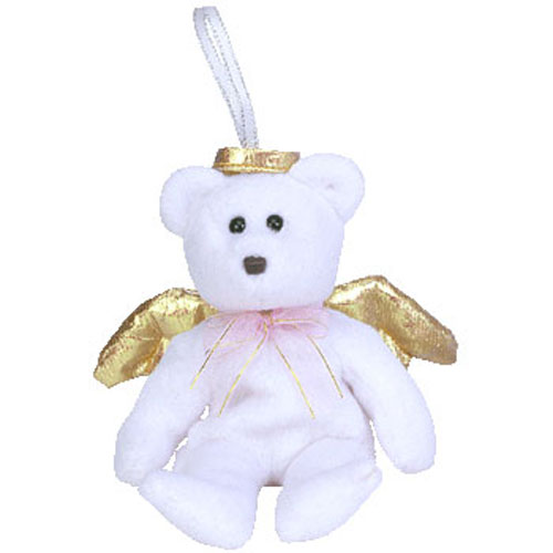 TY Jingle Beanie Baby - HALO 2 the Angel Bear (5.5 inch)  BBToyStore.com -  Toys f6372b177ee