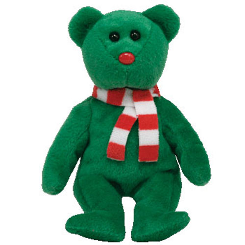 TY Holiday Baby Beanie - WINDCHILL the Green Bear (4.5 inch)