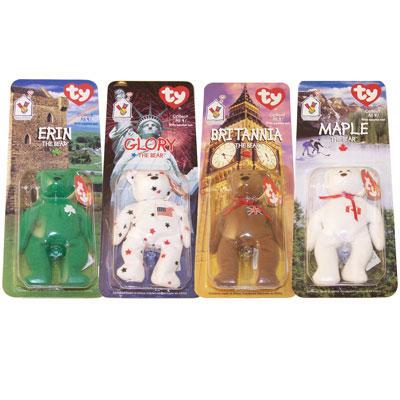 5c7f2504c89 TY McDonald s Teenie Beanies - INTERNATIONAL Bears Set of 4 (1999)   BBToyStore.com - Toys
