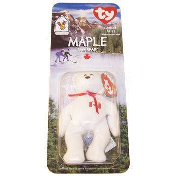 TY McDonald s Teenie Beanie - MAPLE the Bear (1999) (5 inch)   BBToyStore.com - Toys 767db6d63ef