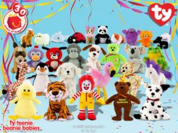 ty mcdonald 39 s teenie beanies toys plush trading cards action figures. Black Bedroom Furniture Sets. Home Design Ideas