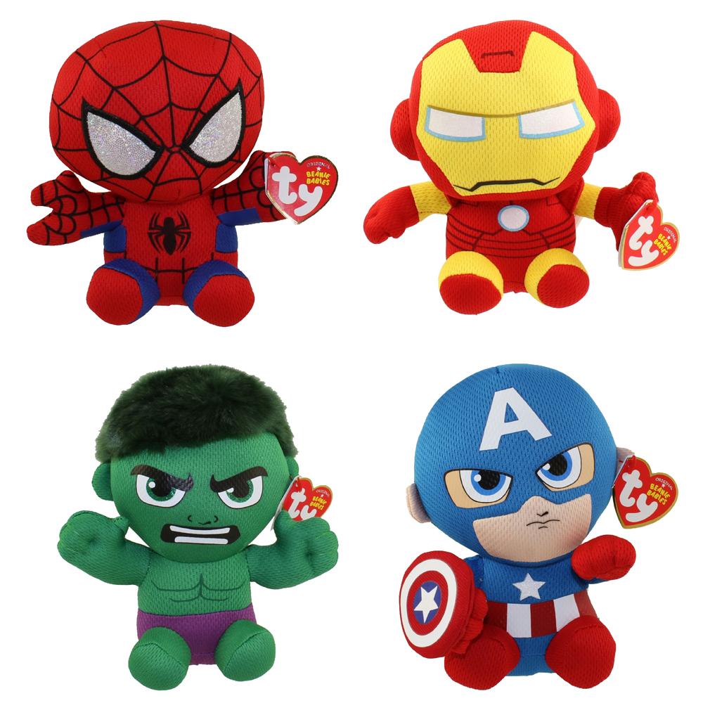 TY Beanie Babies - Marvel - SET OF 4 (Spider-Man cb47ea7800f