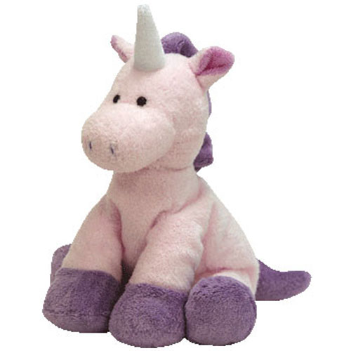 TY Pluffies - CASTLES the Unicorn (9 inch)  BBToyStore.com - Toys ... 970ccb2ac65
