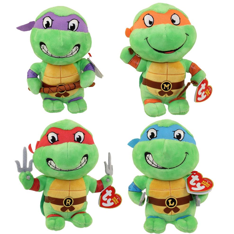 TY Beanie Babies - Teenage Mutant Ninja Turtles - SET of 4 ... Ninja Turtles Toy Ninja Turtles