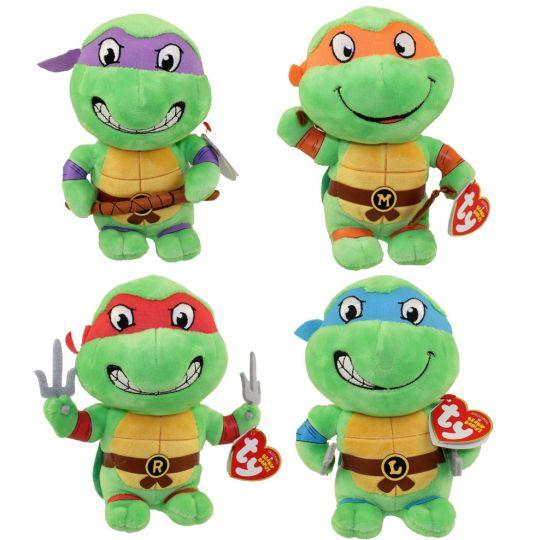 Ty beanie babies teenage mutant ninja turtles set of 4 ty beanie babies teenage mutant ninja turtles set of 4 donatello leonardo voltagebd Gallery