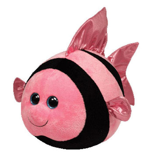 Ty beanie ballz gilly the pink black fish regular for Fish beanie baby