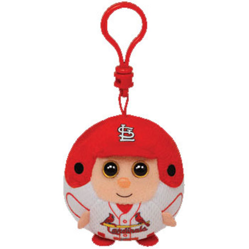 TY MLB Beanie Ballz - ST. LOUIS CARDINALS (Plastic Key Clip - 2.5 inch)