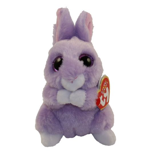 TY Basket Beanie Baby - APRIL the Purple Bunny (3 inch)  BBToyStore.com -  Toys eb90bf103aa