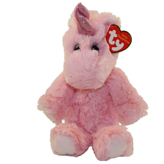 Ty Cuddlys Estelle The Pink Unicorn Regular Size 8 Inch