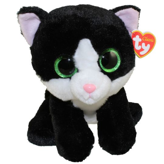 4823c74860f TY Classic Plush - AVA the Black   White Cat (9.5 inch)  BBToyStore.com -  Toys