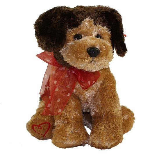 Ty classic plush hugston the brown dog with heart bow inch jpg 540x540 Ty  classic dog b8be820c1e4f