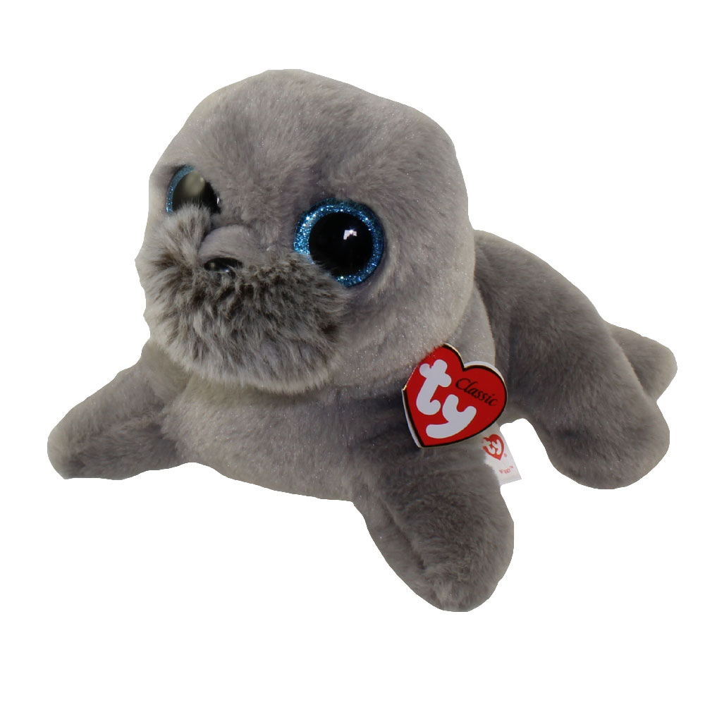 TY Classic Plush WIGGY the Seal 95 inch BBToyStore
