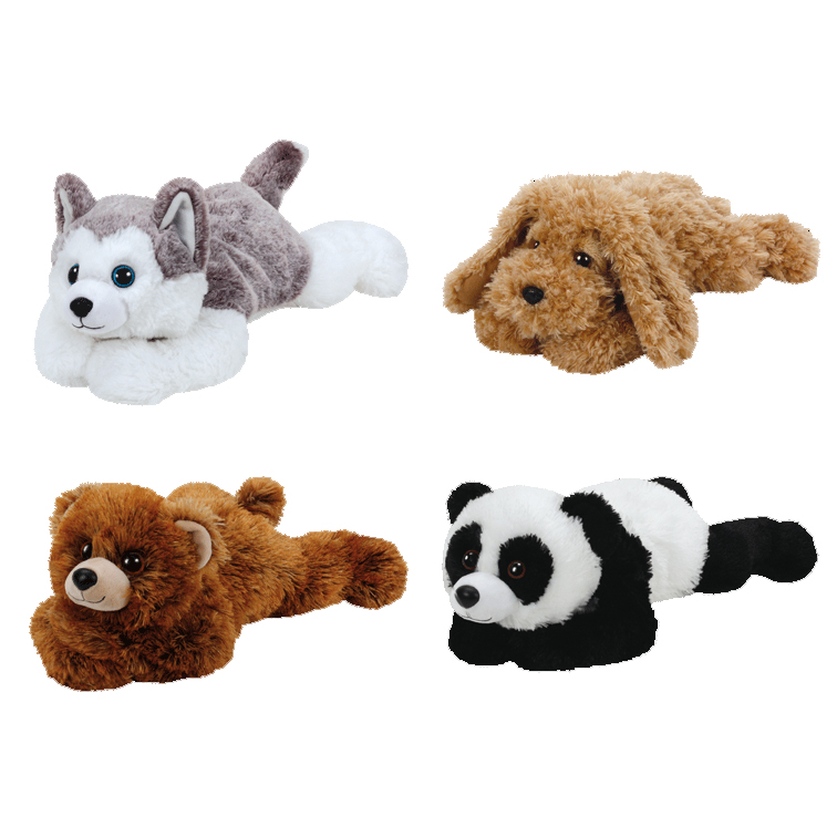 TY Classic Plush - SET of 4 Laying (9.5 inch) (Pre-Order ships January)