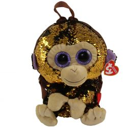 TY Fashion Flippy Sequin Backpack - COCONUT the Monkey (13 inch) 0bf854bf539