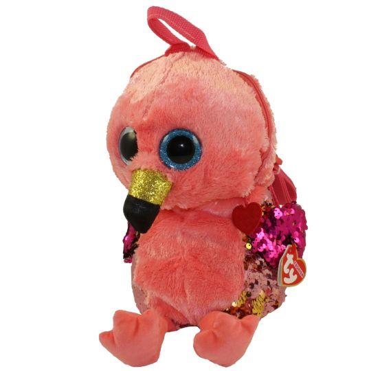 TY Fashion Flippy Sequin Backpack - GILDA the Flamingo (13 inch)   BBToyStore.com - Toys bb7da0e0c54
