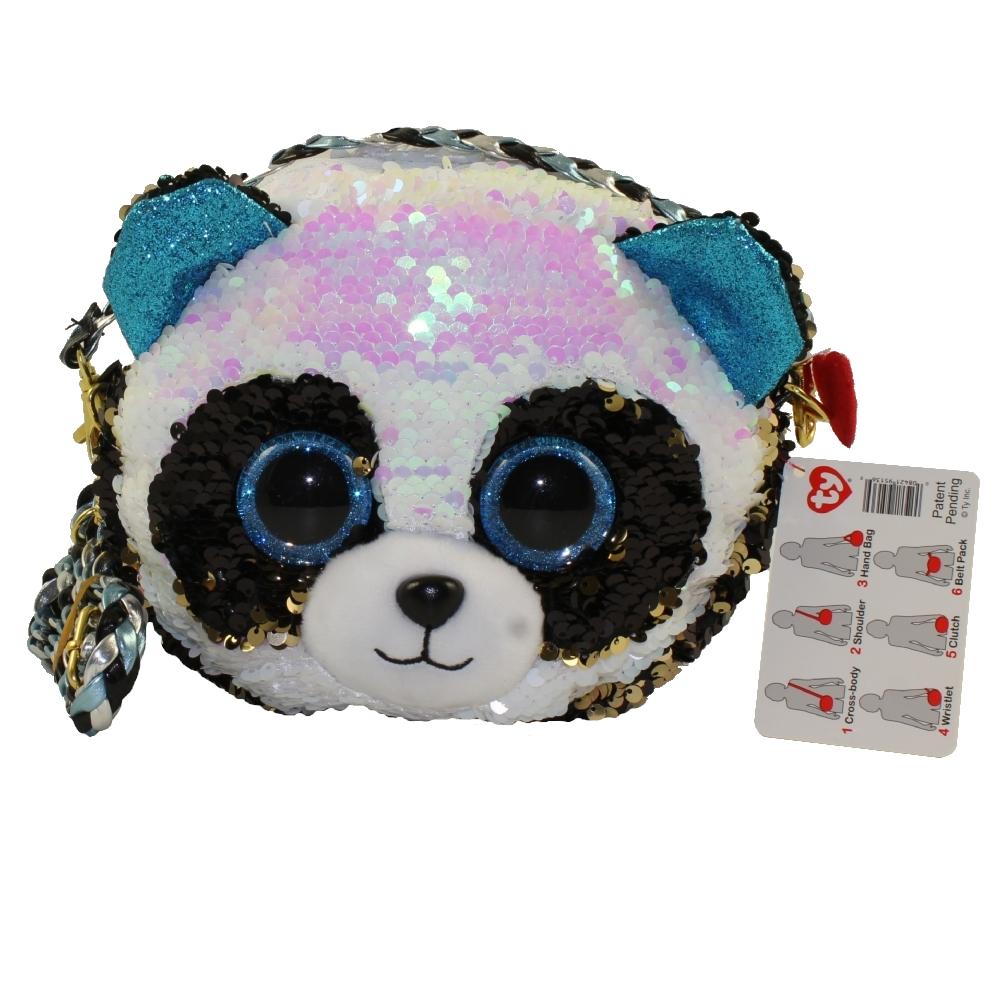 5eada32fbd6 TY Fashion Flippy Sequin Purse - BAMBOO the Panda Bear (8 inch)   BBToyStore.com - Toys