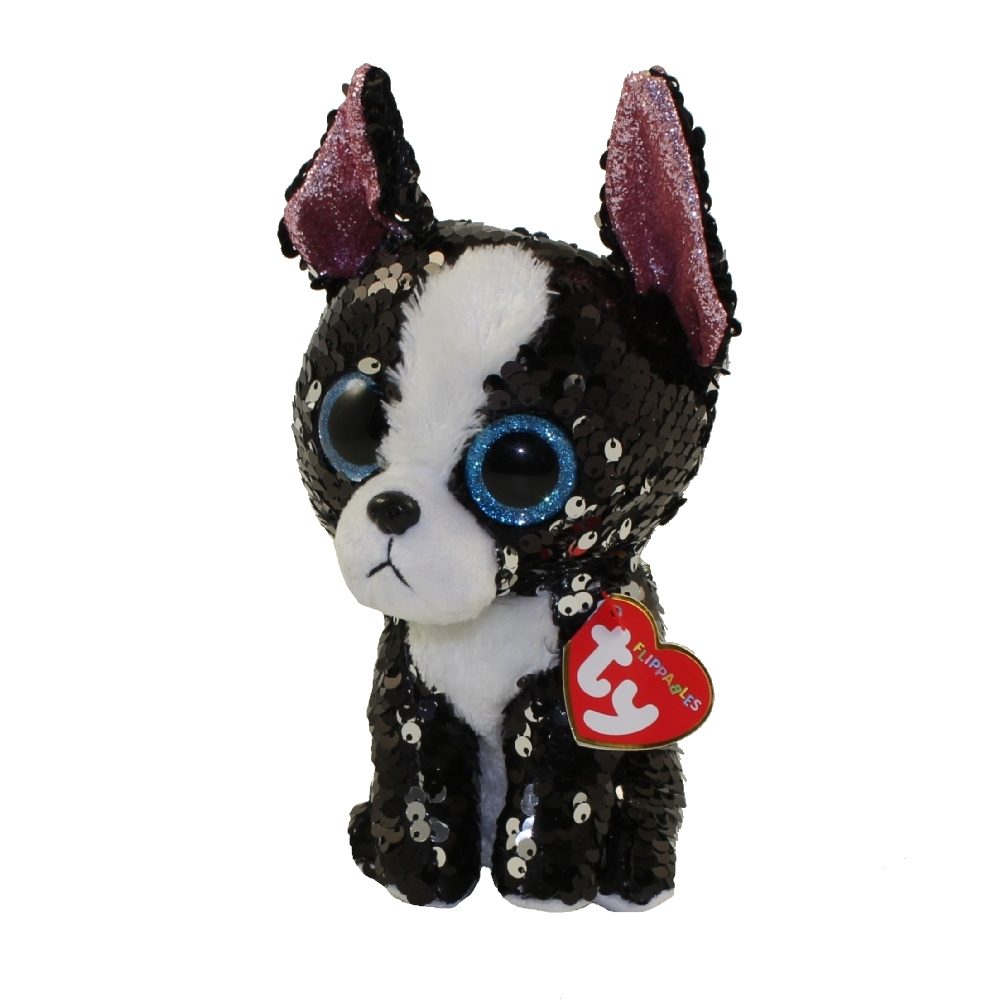 TY Flippables Sequin Plush PORTIA the Terrier Dog