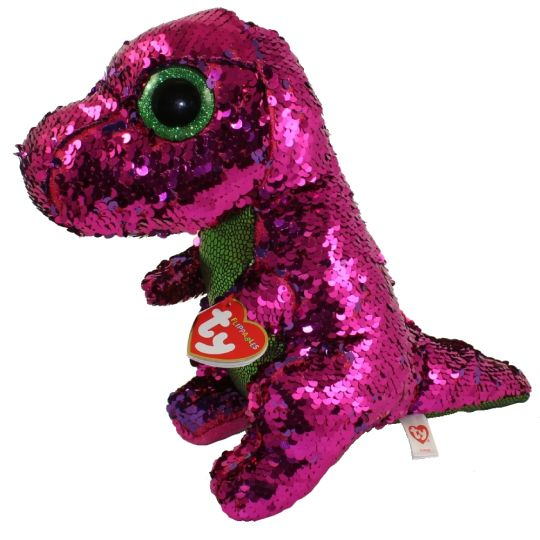 ab7c8a709d1 TY Flippables Sequin Plush - STOMPY the Dinosaur (Medium Size - 10 inch)   BBToyStore.com - Toys
