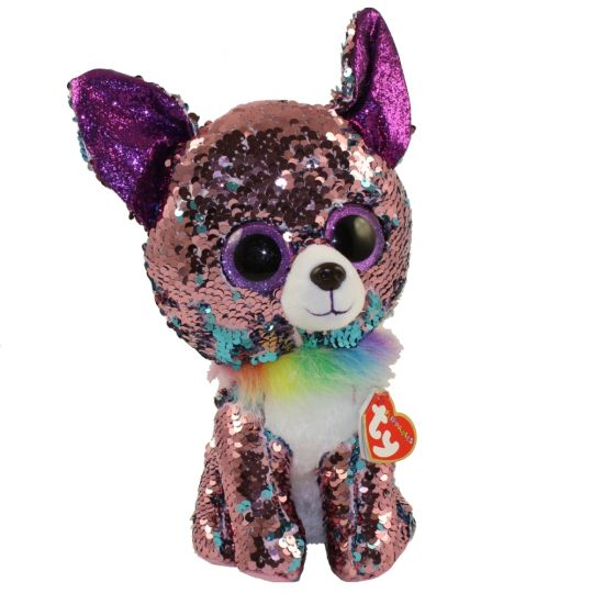 Ty Flippables Sequin Plush Yappy The Chihuahua Dog Medium Size