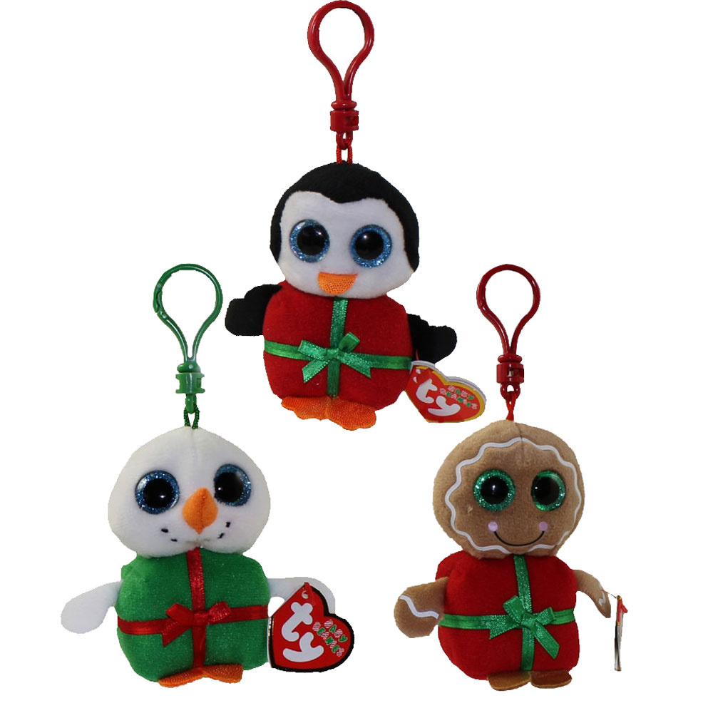 ty holiday baby beanies - 2015 complete set of 3  sweetsy  shivers  u0026 chill   key clips