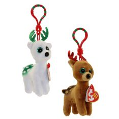 TY Holiday Baby - 2017 Set of 2 (Tinsel & Peppermint) (key clips - 3.5 inch)