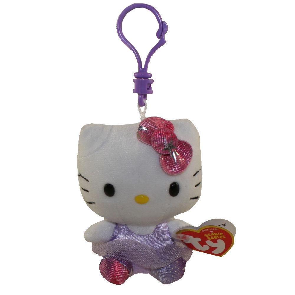 9759dff6aa9 TY Beanie Baby - HELLO KITTY (PURPLE BALLERINA) ( Plastic Key Clip ) (