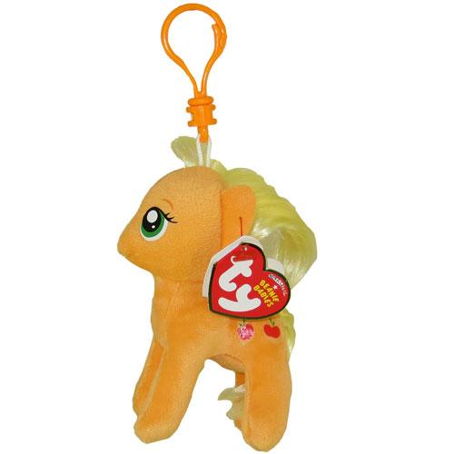 338aca537b3 TY Beanie Baby - APPLEJACK (My Little Pony) (Plastic Key Clip - 5