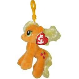 9a23932309f TY Beanie Baby - APPLEJACK with Glitter Hairs (My Little Pony) (Plastic Key