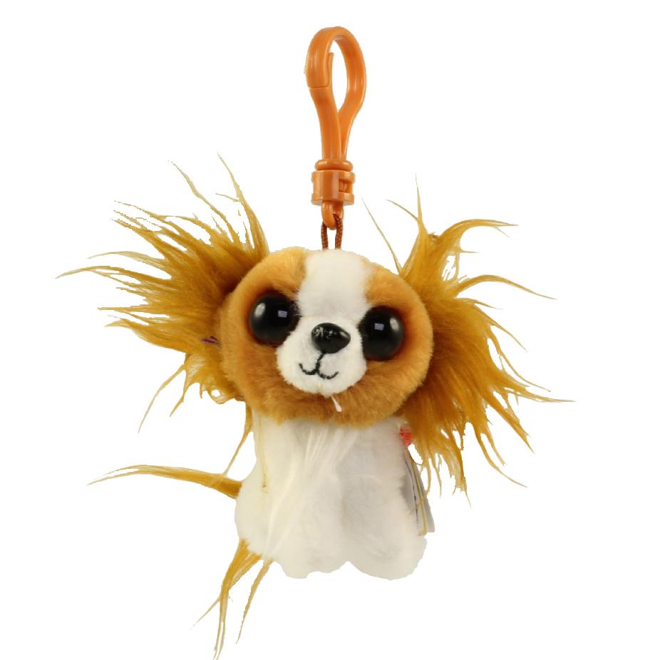 ty beanie baby - barks the dog  plastic key clip   4 inch   bbtoystore com