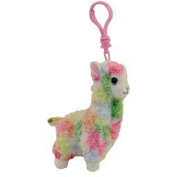 4e75311940640 TY Beanie Baby - LOLA the Rainbow Llama (Plastic Key Clip) ...